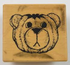 wooden faced teddy bears wood mounted rubber st teddy