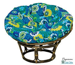 furniture single papasan chair with solid fabric cushion on