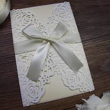 new laser cut flower wed invitation card white rose card wed