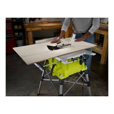 table saw with dado capacity 10 in portable table saw with quickstand ryobi tools