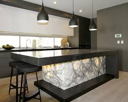 Funky Kitchen Ideas by New York Marble Backlit And Granite Marable Slab House Sydney