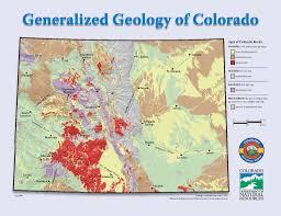 Colorado Springs Colorado Map by Generalized Geologic Map Of Colorado Very Generalized Http