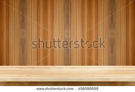 wooden shelf gray gradient background display stock photo