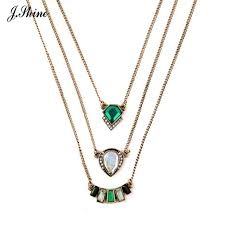 multi layered necklace images Fashion brand design necklace personality geometric pendant multi jpg