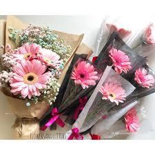 real flowers gerbera fresh flower bouquet real flowers single stalk or