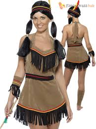 Womens Pocahontas Halloween Costumes Ladies Indian Women Costume Adults Native American Fancy Dress