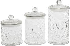 clear canisters kitchen inspiring circle glass rooster design piece kitchen canister set u