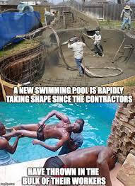 Swimming Pool Meme - labor pool imgflip