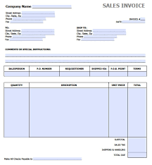 Invoice Templates For Excel Free Sales Invoice Template Excel Pdf Word Doc
