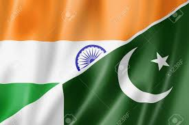 Pakistans Flag Mixed India And Pakistan Flag Three Dimensional Render