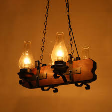 Wooden Pendant Lights Four Light Antique Wooden Pendant Lights
