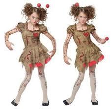 Voodoo Doll Halloween Costume Tween Voodoo Rag Doll Costume Broken Zombie Witch Salem Magic
