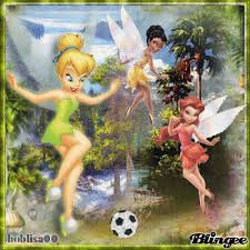 tinkerbell u0026 friends playing soccer picture 123048491 blingee