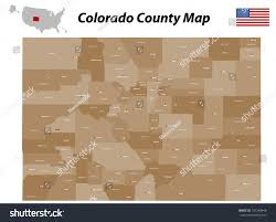 Map Of The State Of Colorado by Map State Colorado Stock Vector 181240448 Shutterstock