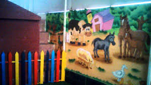 theme wall playschool or preschool classroom wall theme painting painting