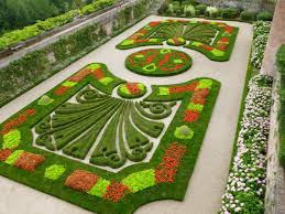 formal french garden hedges fountain stock photo 148773581