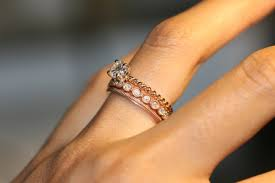 Rose Gold Wedding Ring by Beautiful Rose Gold Wedding Rings All On Weddings