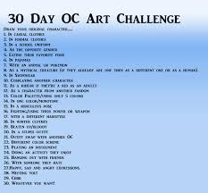 Challenge Original Draw Your Original Character 30 Day Oc Challenge Character