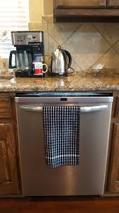 kuk u0027s cuisine kitchen towels set of two mono pattern u2013 black