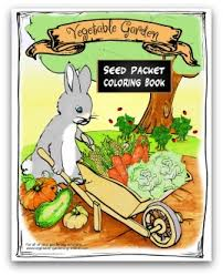 download our free vegetable garden seed packet coloring book