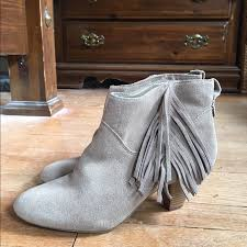 Brown Fringe Ankle Boots 71 Off American Eagle Outfitters Shoes Light Tan American Eagle