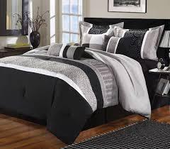 home design bedding luxury home euphoria black grey embroidered 8 comforter