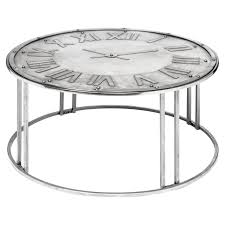 spitfire metal clock coffee table