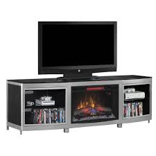 gotham infrared electric fireplace media console in black
