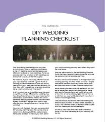 things to plan for a wedding the ultimate diy wedding planning checklist