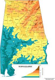 World Elevation Map by Alabama Elevation Map Atlasofalabama