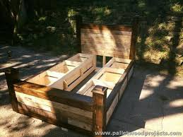 pallet bed with storage plans pallet wood projects