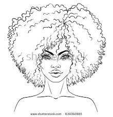 african american pretty vector illustration stock vector