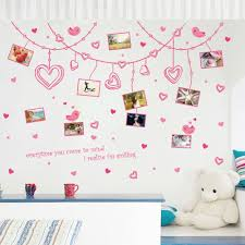 romantic hearts photo frame wall sticker removable cute pink any greasy dirt or water will influence the perfection of the sticker the wall stickers can be free combination to meet your demand