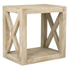 light wood end tables rectangular rubberwood accent table