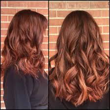 best summer highlights for auburn hair auburn balayage ombré with warm red and copper painted highlights