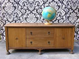 1930 Buffet Sideboard Vintage Buffet 1930s Antique Credenza Long Low Storage Cabinet Tv