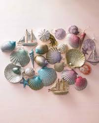 ombre glittered seashell ornaments martha stewart