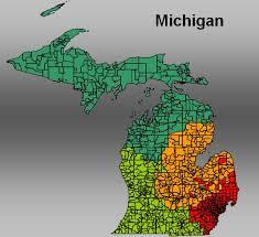 area code map of michigan usa 5 digit zip code boundaries for mapland
