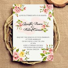 inexpensive coral floral wedding invitations ewi342 as low