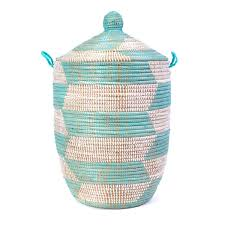 white laundry hampers handmade lidded basket hamper woven laundry basket uncommongoods