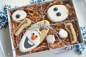 lizy b snowflake cookies for a frozen movie party