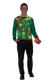 christmas light up ugly sweater men u0027s halloween costume