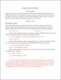 chapter 4 answers chapter 4 atoms and elements chapter summary