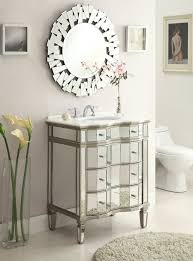 Bathroom Vanities Mirrors Enchanting Mirrored Bathroom Vanity Contemporary Caden Design Of