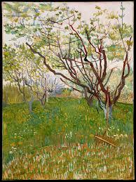 vincent van gogh the flowering orchard the met