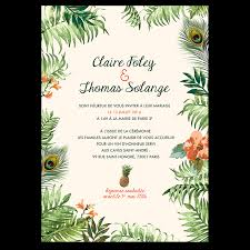 invitã e mariage invitation mariage originale ambiance jungle tropicale tropical