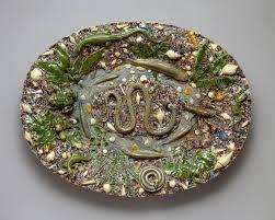 ceramic platter platter follower of bernard palissy 53 225 52 work of