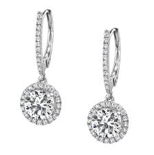 diamond dangle earrings 48 diamond dangle earring 14k white gold diamond and sapphire