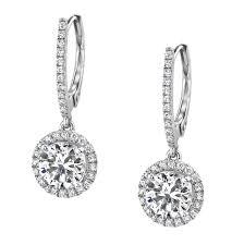 dangling diamond earrings 48 diamond dangle earring 14k white gold diamond and sapphire