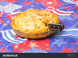 American Flag Pie Recipe Apple Pie On American Flag Background Stock Photo 344965481